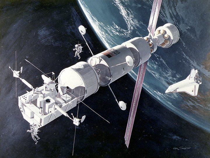 astronaut orbiting space station - photo #10