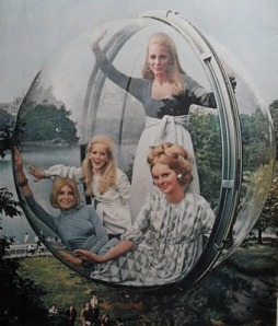 13_fashion_1969 CLAIROL vintage ADVERTISEMENT women health and beauty NEW YORK CITY Central Park 1960s Bubble Photo