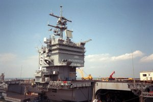 19_USS_Enterprise_(CVN-65),_island_1990