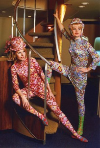 Cabin crew uniforms for Braniff airline, Emilio Pucci