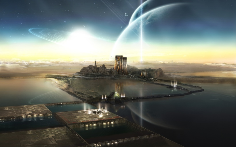 A generic space opera image from a wallpaper web site