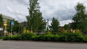 At Fantastika 2013, this area in front of the Dieselverkstaden had been a building site